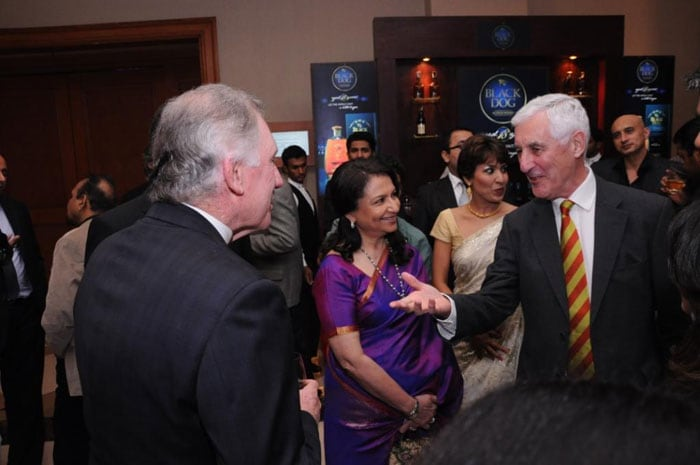 Chappell and Brearly who conducted the foundation panel discussion, are seen here interacting with Sharmila Tagore.