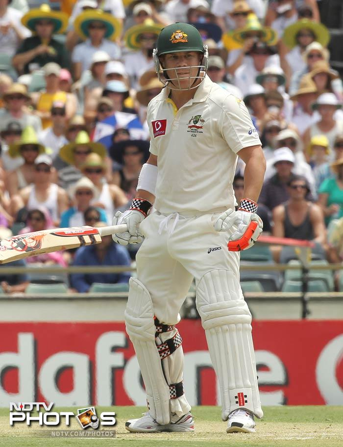David Warner was at his best and began the day as if he had never left. He struck boundaries at will and brought up his 150 off 128 deliveries to frustrate India.