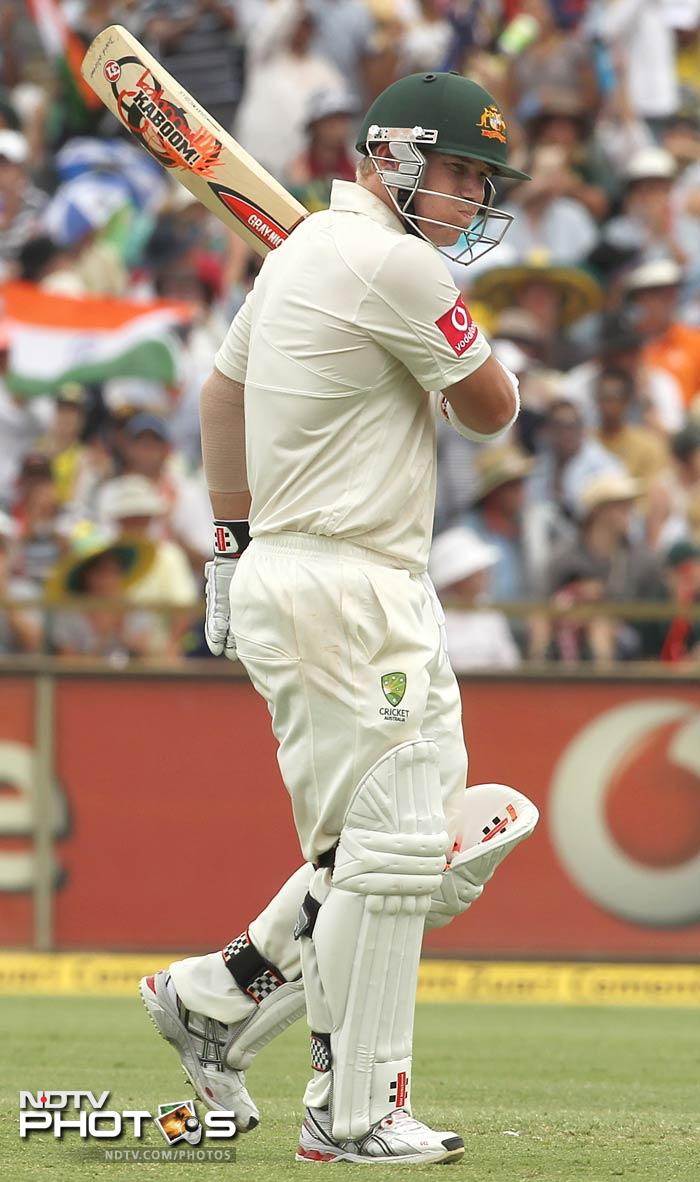 Warner scored 180 and had 17 boundaries and 4 sixes in his heroic innings.