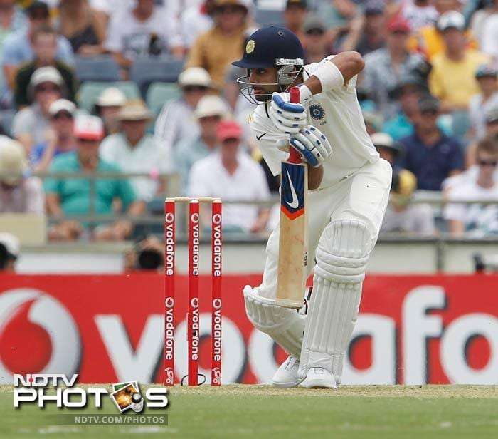 Virat Kohli was the only Indian batsman who looked positive at the crease and top-scored with 44 off 81 balls.
