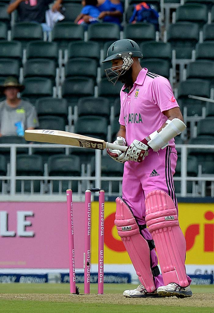 The first time the team celebrated Pink Day in 2011, Hashim Amla had scored a century. He was dismissed for 65 in the first game.