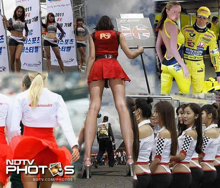 As India gets set to welcome its own pit babes, here's looking at their counterparts from the other Formula One tracks. (AFP and AP images)