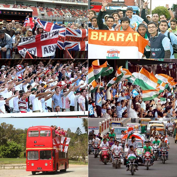 The Barmy army gets set to take on the Bharat army at home. While the two groups of supporters battle it out off the field to cheer their side, a look at the on-field battles at hand. (Agency images)