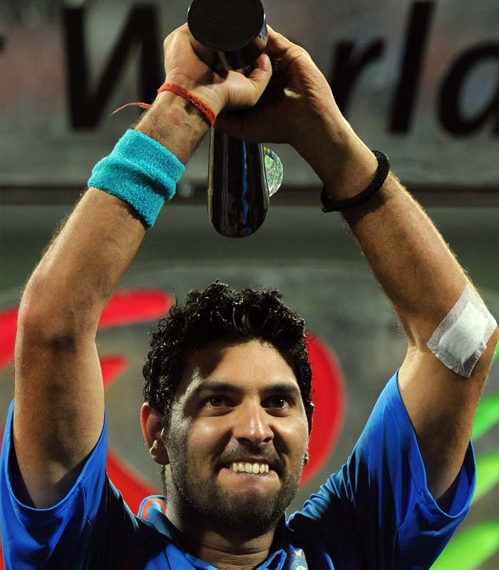 Yuvraj Singh, with four Man of the Match awards in the tournament, has had an excellent run with the bat as well as with the ball. He was adjudged as the player of the tournament.