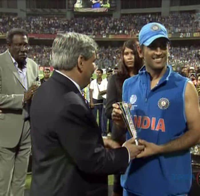 Skipper MS Dhoni had a quiet tournament till Saturday but a fluent and an unbeaten knock of 91 runs to take his team to the ultimate victory made him the man of the match.