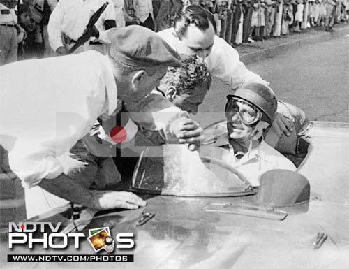 <b>Juan Manuel Fangio (Argentina): 29</b><br><br> The man who held most of the F1 records for several decades is at No.6. At 55.8%, he has the best conversion rate in F1 history, with 29 poles in 52 races.<br><br> Fangio's last pole position came at the 1958 Argentine Grand Prix, the opening race of the season, and also his home race. He unfortunately finished only 4th in the GP.<br><br> He raced sparsely during the season and finally bid adieu to the sport, mid-season, after the French Grand Prix. The Argentine had won the last of his 5 F1 titles in the previous season in 1957.