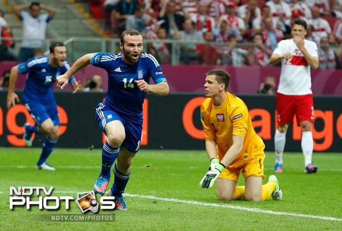 Greece, however, battled hard in the second half, and substitute Dimitris Salpingidis levelled the score in the 51st minute.