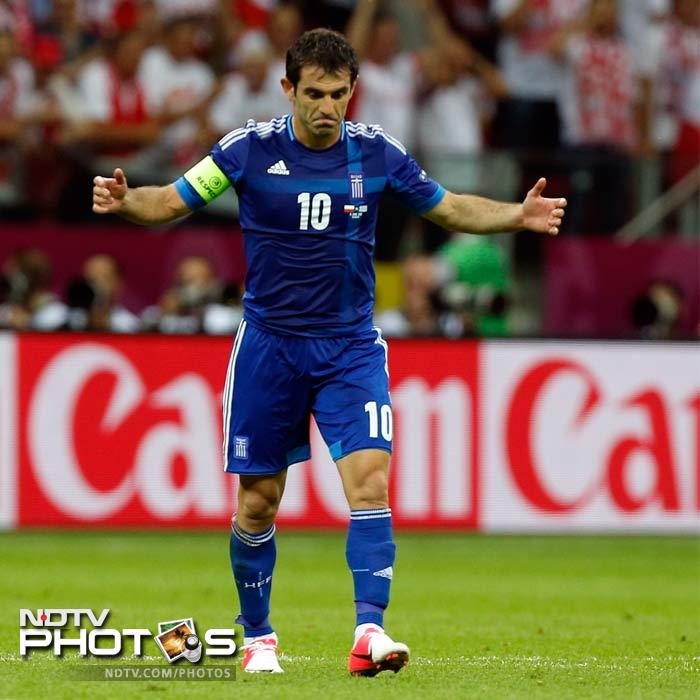 Karagounis - who scored against Portugal in the 2004 opener - failed to beat Tyton and Greece were held to a draw.