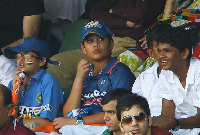 Arjun watches the match from the stands. (Pics: Getty Images)