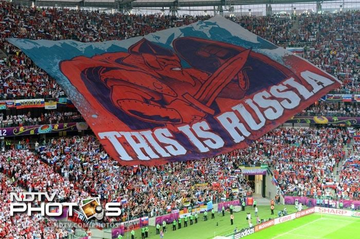 Sporting encounters between Poland and Russia are often high pressure, as they feed into centuries of antipathy between the two nations, and the rivalry in the stadium's terraces was palpable from the start of the match.