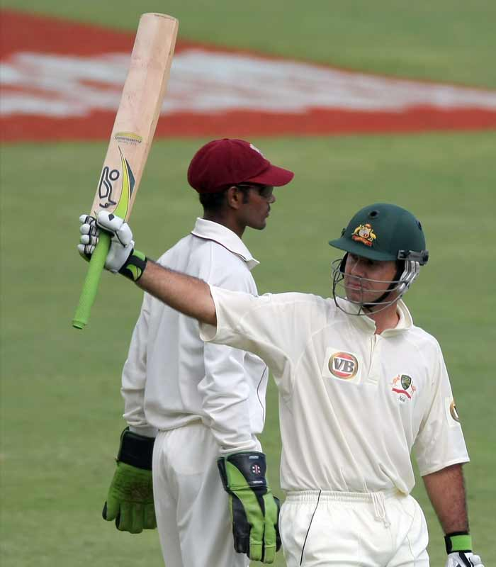 <b>2008, May:</b> Scores 35th Test 100, notching up more centuries than any other player besides India's Sachin Tendulkar