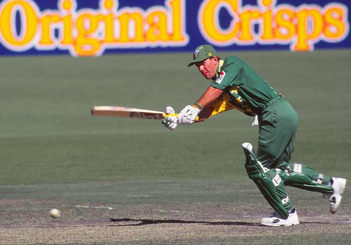 <b>1995, February 15:</b> Makes one-day international debut against South Africa in Wellington, scoring just one