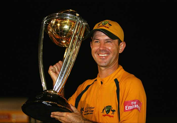 <b>2007, April:</b> Seals a hat-trick of World Cup titles as Australia go undefeated at the tournament in the West Indies