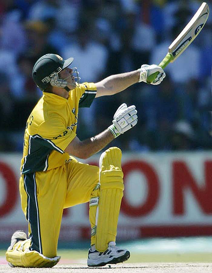 <b>124* off 129 balls vs Pakistan, November 1998:</b> Despite four centuries being slammed in this match, it was Ponting who walked away with the man of the match award for his unbeaten innings that saw Australia safely home. Chasing 316, Punter combined with Adam Gilchrist, who also hit a ton, to get Australia home with 7 balls to spare at Lahore.