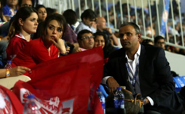 There have been tense moments - typical in the T20 format and in IPL. <br><br> Preity Zinta has looked nervous on many occasions through the course of the two matches her team has played so far. (BCCI image)
