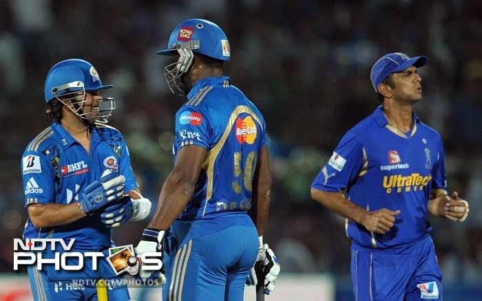 Mumbai Indians had a good practise run before the play-offs by thrashing Rajasthan Royals by 10 wickets at Jaipur. (PHOTOS AFP)