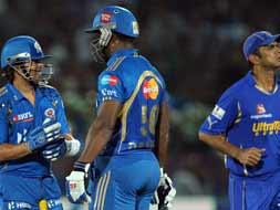 Photo : IPL 5: Mumbai hand Rajasthan a Royal defeat