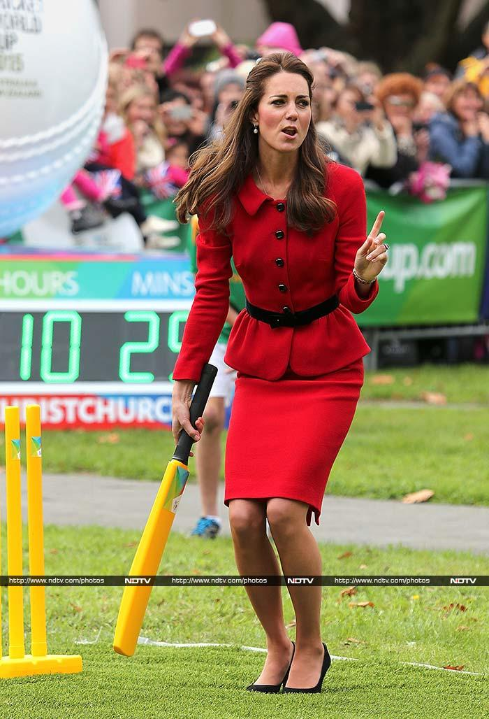 I can hit too, bowl one more!<br><br>Kate though got the loudest cheer of the day when she managed to get her bat to meet the ball from her husband.