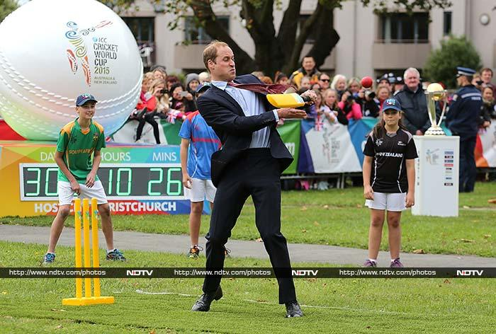 Once he did get used to the conditions - and the rousing cheer, Prince William walloped the ball with raw aggression.