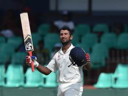 Photo : Cheteshwar Pujara Ton Gives India Control in Rain-Hit Test