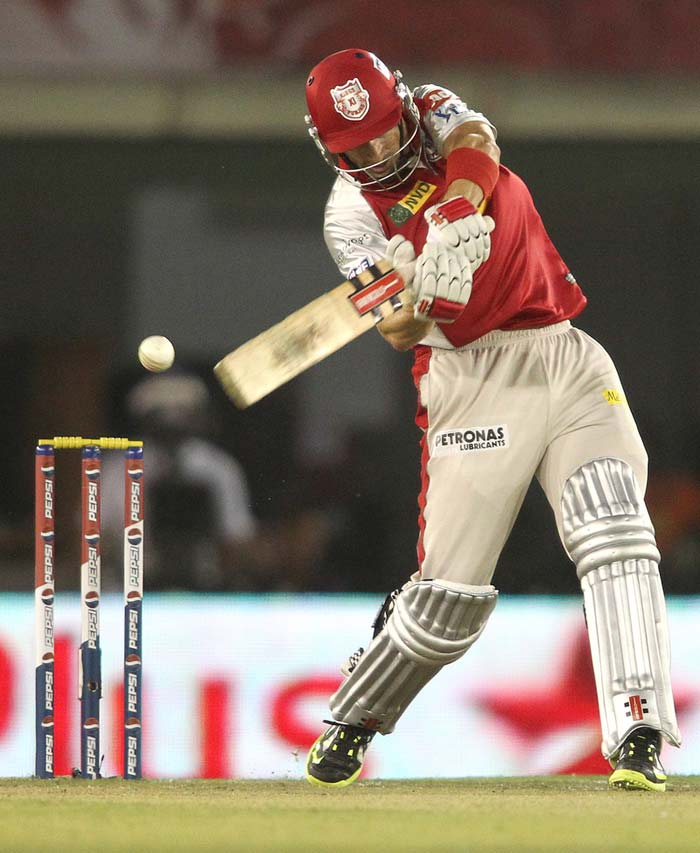Hussey was on 12 when he was dropped and 31 when run-out was missed. It probably did not cost Chennai too much as he managed a not-too-quick 41 off 36 balls when Ashwin had him caught off Bravo at long-off. (BCCI Image)