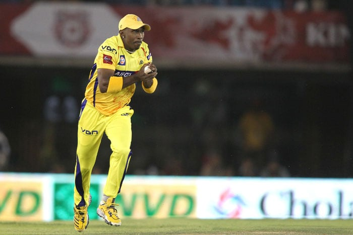 Dwayne Bravo (3/27), Chris Morris (2/27) and Dirk Nannes (2/17) were the chief destructors but even Chennai's fielding was stupendous to say the least as Punjab managed just 138. (BCCI Image)