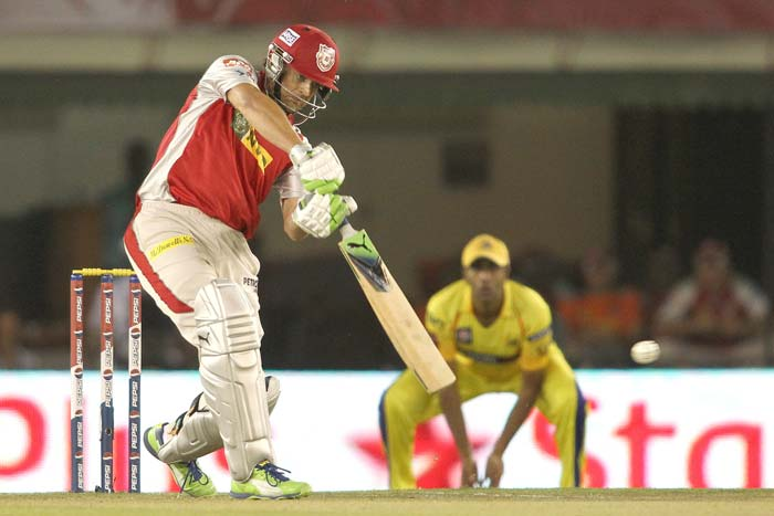 Chennai had a dream start with the ball as Dirk Nannes struck gold twice to remove Adam Gilchrist and Mandeep Singh in quick succession. <br><br> Punjab skipper Gilchrist went trying to guide one past former teammate Michael Hussey at short fine leg for 9 runs off 6 balls. His innings had just started to gather momentum with a couple of boundaries off rookie Chennai pacer Ankit Rajpoot. (BCCI Image)