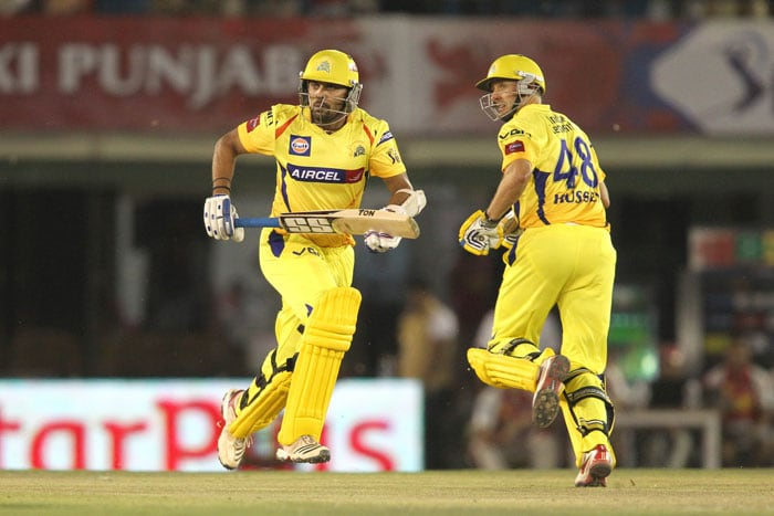 Vijay was not far behind his partner but in terms of 'being lucky'. Punjab skipper Adam Gilchrist missed an easy stumping chance off Piyush Chawla as the home side lost the plot badly. (BCCI Image)