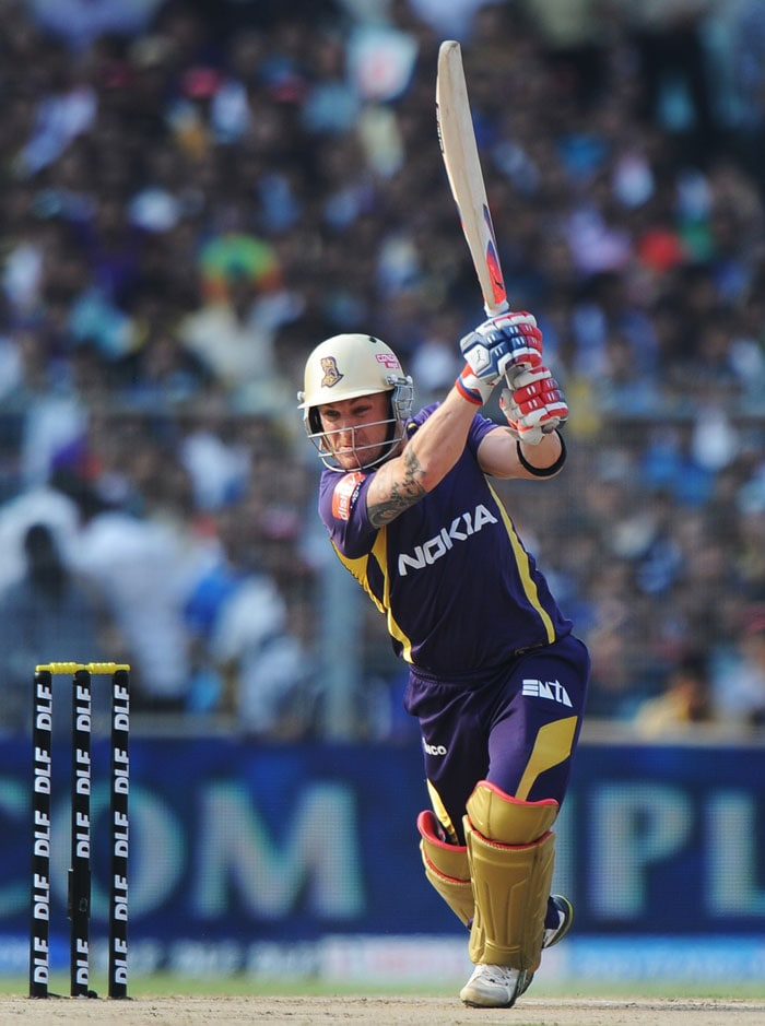 Breondon McCullum brought back some of the memories from the first match of the inaugural edition of IPL. (AFP PHOTO)