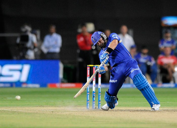 Brad Hodge, James Faulkner hit a few lusty blows at the end to take Rajasthan Royals to 145/5 in their stipulated 20 overs. (BCCI Image)