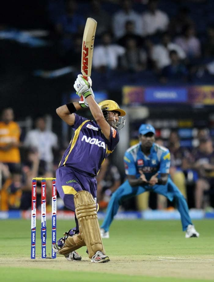 Gautam Gambhir led Kolkata from the front, scoring a record 20th fifty in his IPL career. Gambhir also went on to win the Man of the Match award later for his 44-ball 50 that laid the foundation for the visitors to reach a respectable score in Pune. (BCCI image)