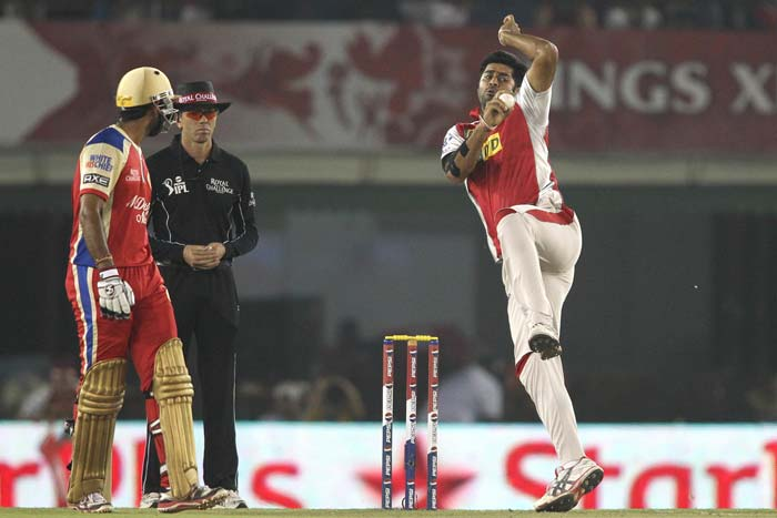 Michael Neser (0/62) and Manpreet Gony (2/41) bore the brunt of RCB attack while Praveen Kumar (0/28), Parvinder Awana (1/28) and Piyush Chawla (0/26) were excellent on the day. Gony took the crucial wickets of Gayle and Pujara but was way too expensive at 2/41 in his 4 overs. (BCCI Image)