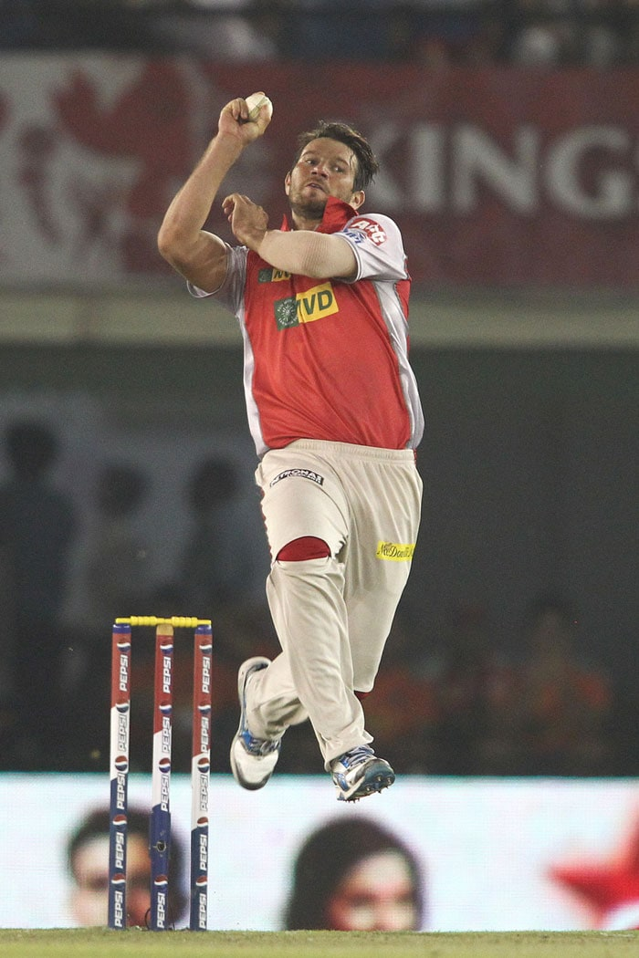 What the home side would have feared, came true in the fifth over as Michael Neser, unknown Aussie fast bowler, was smashed for a couple of sixes by Gayle in his very first over of IPL. His over cost 18 runs but more was to come in the next. <br> Pujara, who did not look at ease, hit Gony for three consecutive boundaries in the bowler's second over to grab the initiative for Bangalore as the visitors scored 58/0 in the powerplay. (BCCI Image)