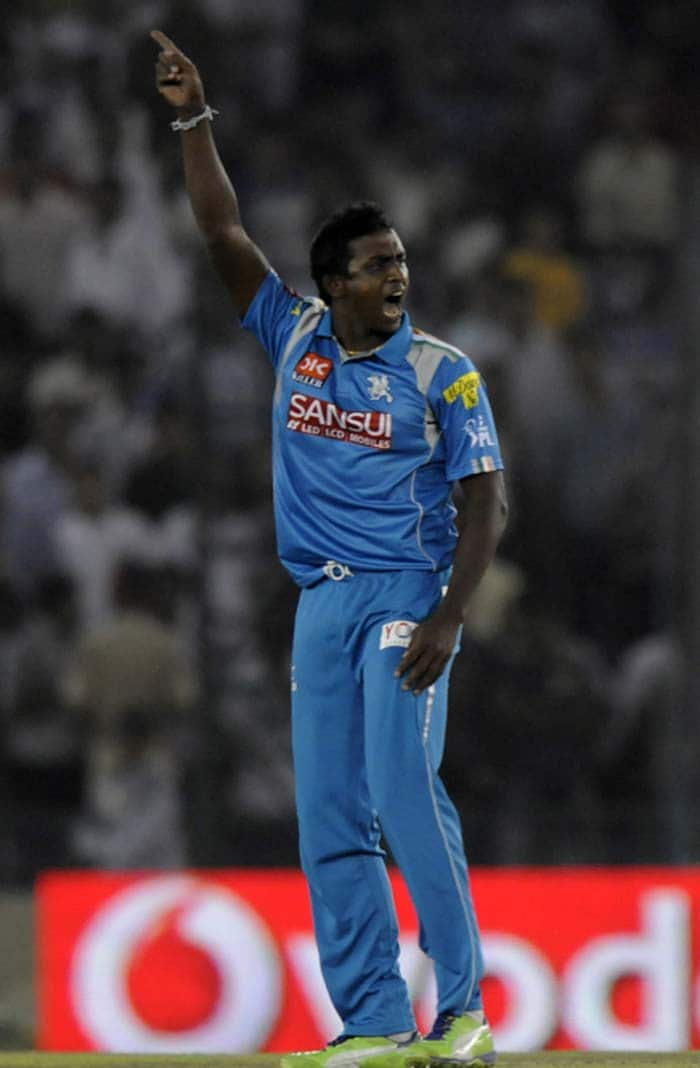 Azhar Mahmood, promoted in the order, then followed his skipper into the pavilion as Ajantha Mendis struck off his very first delivery of the IPL 2013 season. The former Pakistan player did not trouble the scorers. (BCCI Image)