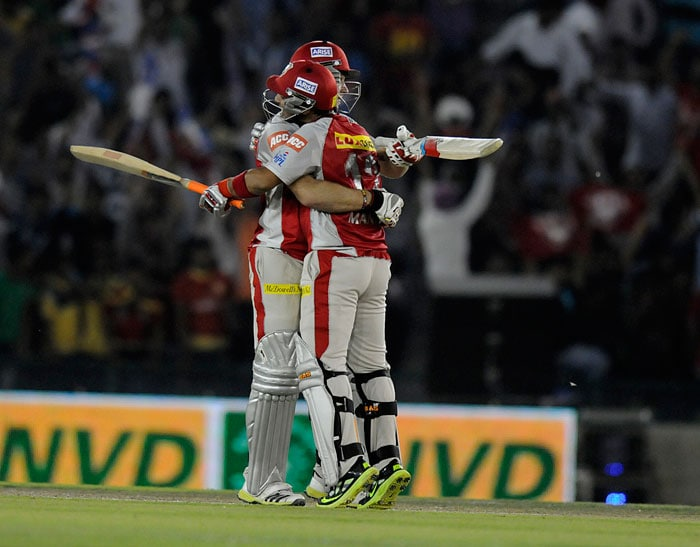 Unbeaten partnership of 128 runs between young David Miller and Mandeep Singh took Kings XI Punjab to an unlikely victory over Pune Warriors India after the latter set up a formidable 186-run target in the 29th match of the Indian Premier League 2013, being played in Mohali. <br><br> The home side looked down and out at 58/3 after losing Adam Gilchrist, Azhar Mahmood and Manan Vohra. Pune bowlers, at that stage, looked right on top until Miller and Mandeep combined to string a match-winning partnership. Miller hit 5 hits to the fence and as many over it in his 80* off 41 balls while Mandeep in his 77 off 58 was more composed with 7 hits to the fence. (BCCI Image)