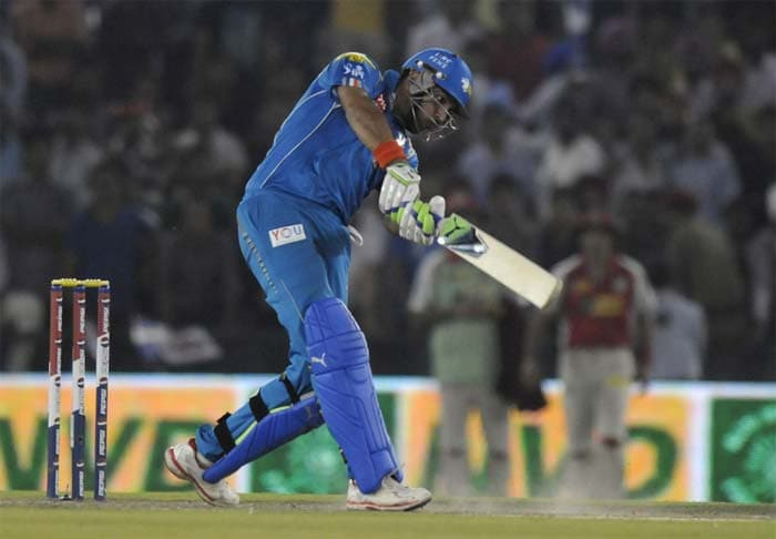 Yuvraj then took it upon himself to guide his team and not let another 'collapse' happen. In the 17th over, Awana was hit for 14 runs as the dashing left-hander hit two characteristic hits across the boundary - one over deep mid-wicket and one straight as an arrow. (BCCI Image)