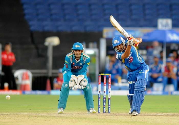 Rohit Sharma and Ambati Rayudu added some quick runs and that brought Mumbai a five wicket win with 7 balls to spare. (BCCI Image)