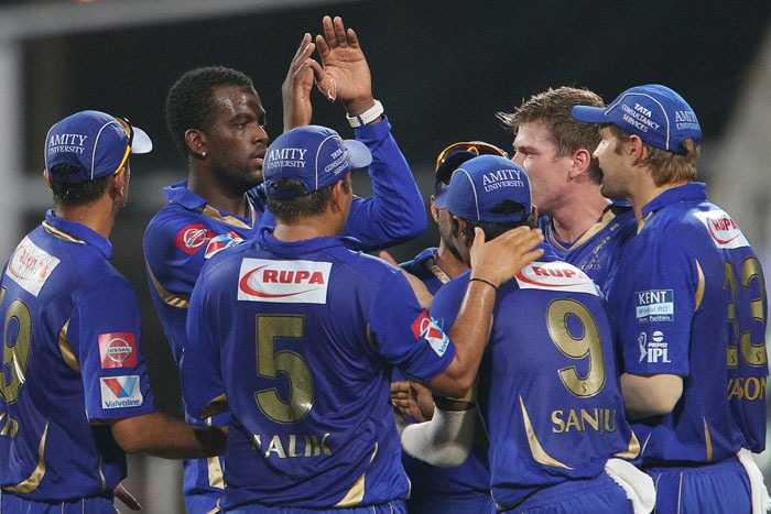 Tare was the more aggressive of the two - hitting sixes off James Faulkner and Siddharth Trivedi as Mumbai tried to make short work of the total. <br> Both added 70 before Tare, 35 off 27 balls, picked out the long-on fielder Sanju Samson off Kevon Cooper to gift Rajasthan their first wicket. (BCCI Image)