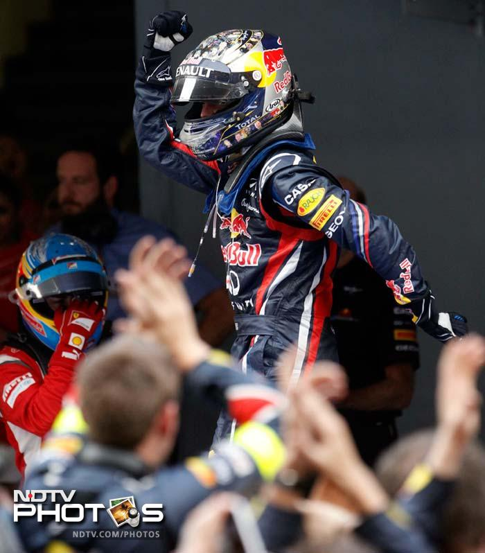 World Champion Sebastian Vettel showed India why he is the world champion as he won the inaugural F1 race at the Buddh International Circuit. A look at some of the finest moments of the day. (AP and AFP photos)