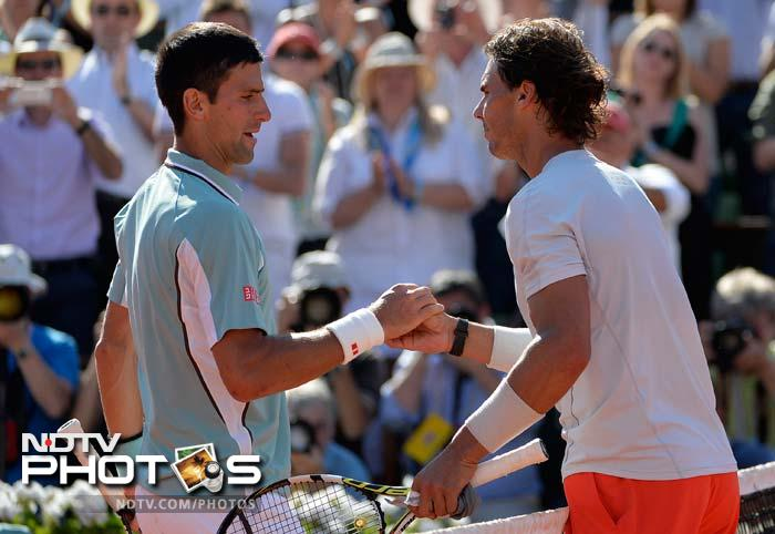Djokovic frittered away an advantage from a 4-3 position in the final set to lose his serve and ultimately go on to lose the match 6-4, 3-6, 6-1, 6-7 (3-7), 9-7 and a chance to win his first French Open title.