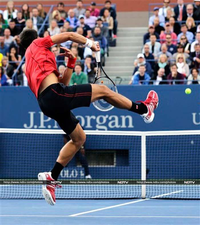 Djokovic lost 11 of the last 13 games with his challenge fatally undermined by 53 unforced errors to Nadal's 20.