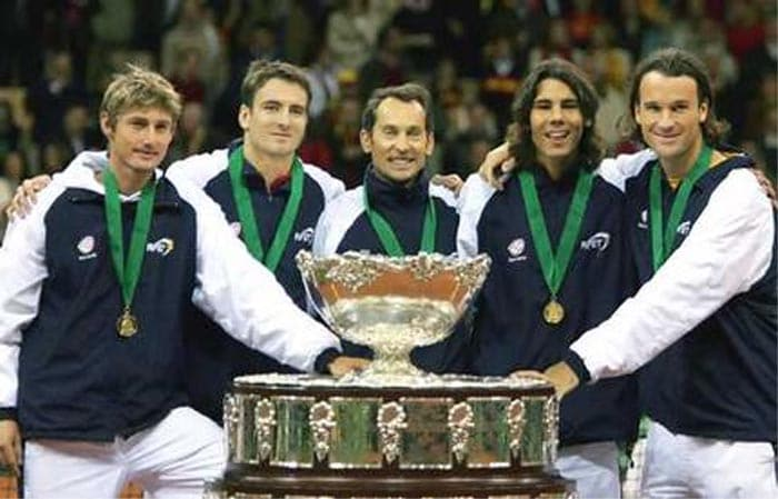 Nadal made his first mark on the international tennis scene when he defeated then World No 2 Andy Roddick in the Davis Cup in 2004 to help Spain beat the US 3-2 in the final.<br><br> He has continued to turn out for Spain in the Davis Cup despite his personal commitments on the ATP Tour and was part of the national teams that won the title again in 2008 and 2009.