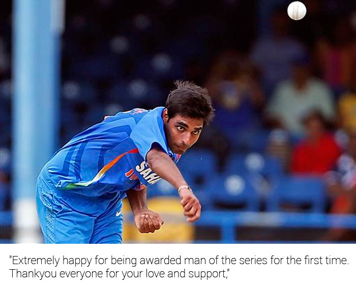 """""""Extremely happy for being awarded man of the series for the first time. Thankyou everyone for your love and support,"""" he said."""