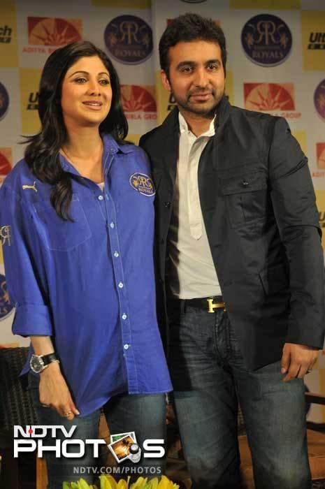 """""""Today we launch the New Rajasthan Royal kit,with r main sponser which will b reveald today.Really kicked abt this present Squad.Go RR,"""" she had tweeted before the event."""