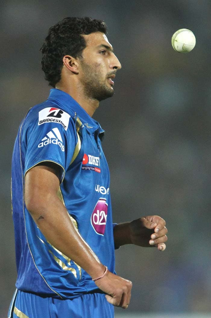Mumbai meanwhile floundered as Rishi Dhawan's 'mad' over provided the initiative fairly and squarely to Rajasthan. He bowled nine balls in the 12th over - including two no-balls (free-hits) and a wide. Despite all that, he went for just 13, as Rahane and Yagnik failed to capitalise on the free-hits. (BCCI Image)