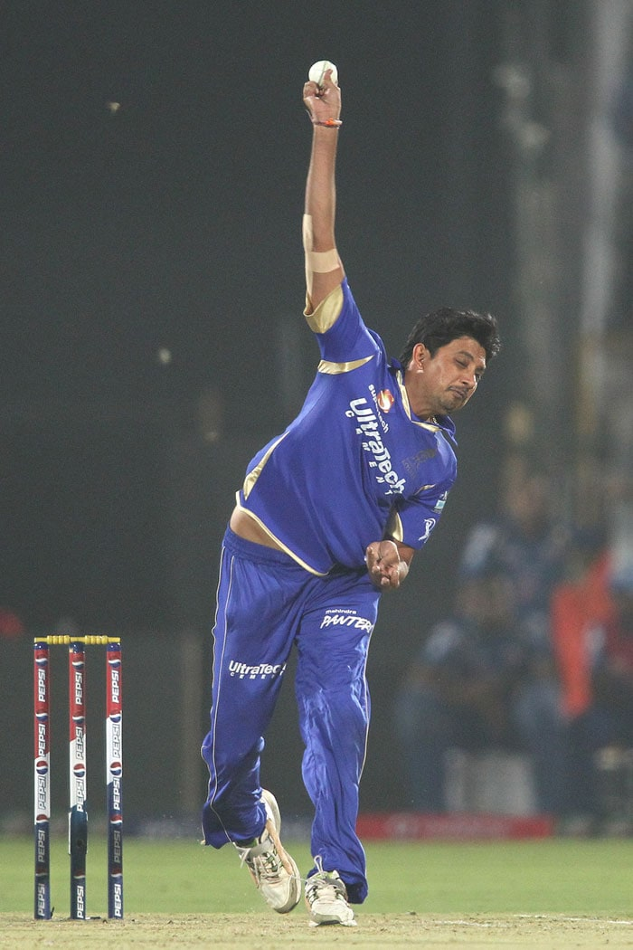 Mumbai would then have banked on their best batsmen this season so far - Dinesh Karthik and Rohit Sharma - to deliver the goods. Karthik looked in form right from the outset and hit early couple of boundaries off Chavan and James Faulkner. <br> <br> Rohit Sharma though, unfortunately for Mumbai, decided to fail for once. Siddharth Trivedi, coming in to bowl his first over, removed Sharma off the very first ball, trying to hit a short-arm jab of a shortish delivery. Watson took a comfortable catch at mid-wicket. Sharma scored 2 off 7 balls. (BCCI Image)
