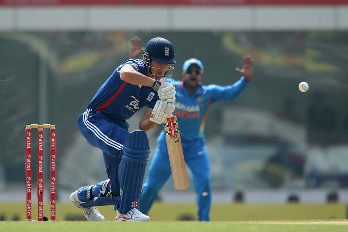England skipper Alastair Cook (17) managed to get a start for himself. He hit a couple of boundaries but was also the first to be dismissed. He fell to Shami Ahmed (unseen). (BCCI image)