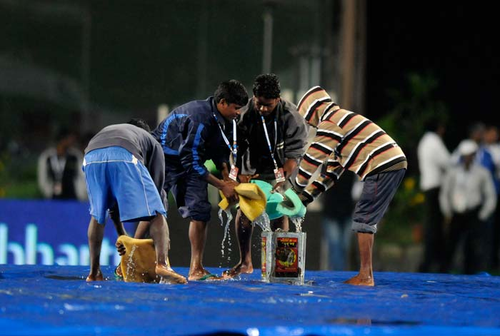 However, the rain Gods arrived with India at 27/0 to end what would have been a thrilling chase in Ranchi. (BCCI image)