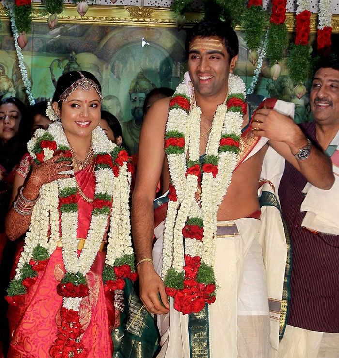 Cramped schedules may hardly give cricketers time to breathe but it looks as though Ravichandran Ashwin has planned his time extremely well. He married his childhood friend Preethi Narayanan in Chennai on Sunday, a day before India's second Test match against West Indies.
