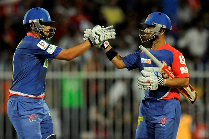 It was then that Ross Taylor (left) and JP Duminy combined to first steady and then propel the innings. (BCCI image)